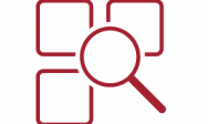 Magnifying Glass Over Square Applications Icon
